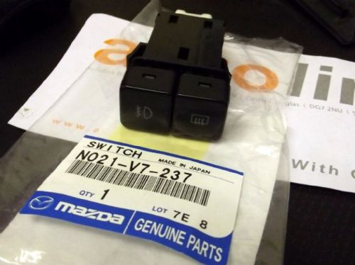 Switch, heated rear window & foglights, double push/push type, Mazda MX-5 mk1, N021V7237